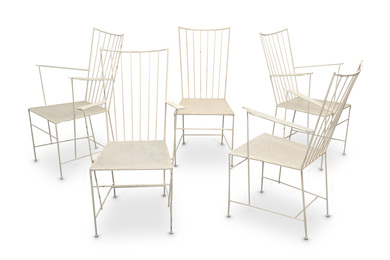 A set of five Sonnet chairs