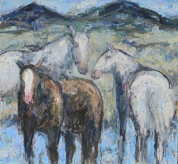 , 'Ennis Horses #3,' 2015, Valley Fine Art