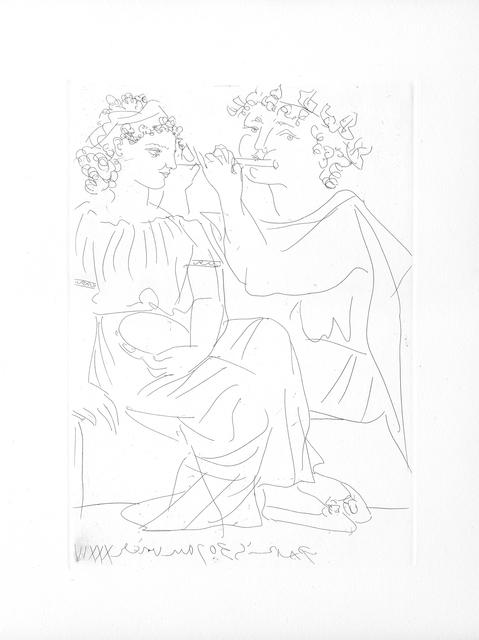 , 'Flûtiste et Jeune Fille au Tambourin (S.V. 20),' 1934, John Szoke