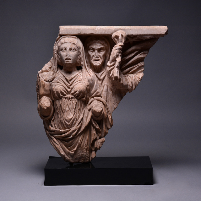 Unknown Roman, 'Relief from a Mythological Sarcophagus', 200-220, Barakat Gallery