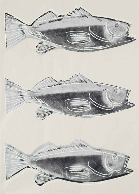 Andy Warhol, 'Fish (FS IIIA.39)', 1983, Print, Screenprint on Wallpaper, Revolver Gallery