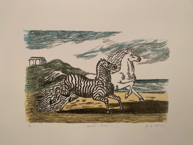Giorgio de Chirico, 'Cavallo e zebra (Prima versione)', 1974, Galerie AM PARK