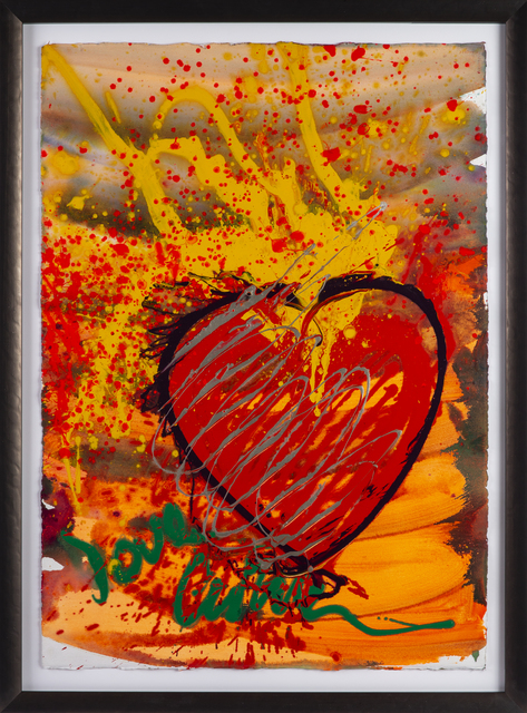 "Dale Chihuly, 'Massive Hand Painted ""Drawing"" Love Chihuly Glass Pop Art', 1999, Modern Artifact"