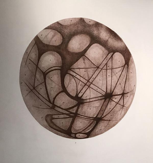 , 'Cartografía lejana A,' 2016-2017, Licenciado
