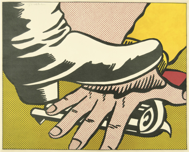 Roy Lichtenstein, 'Foot and Hand', 1964, Print, Offset lithograph printed in three colors (yellow, black, red) on wove paper, Galerie d'Orsay