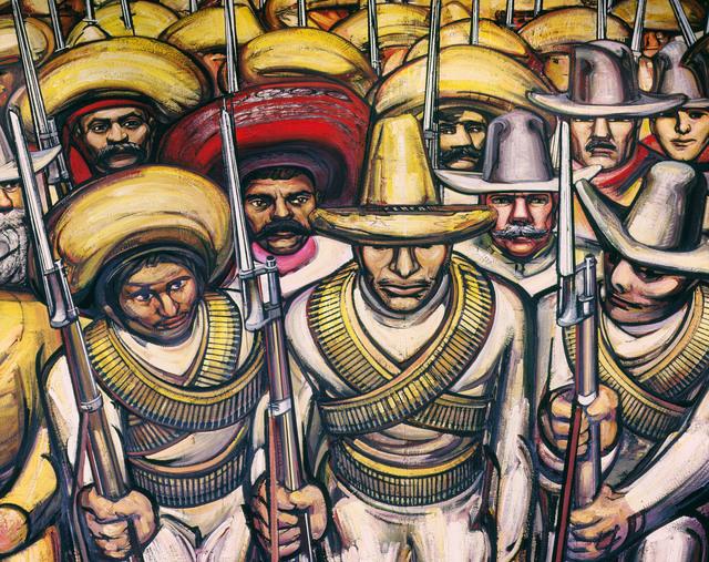 David Alfaro Siqueiros, 'From Porfirianism to the Revolution (Dal Porfirismo a la Revolucion) [detail]', 1964, Painting, Mural, Art Resource