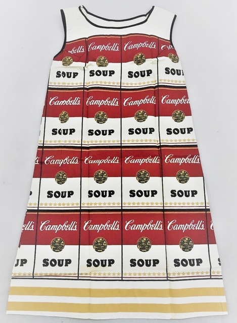 "Andy Warhol, '""Soup Dress"", Silk Screen on Paper, Near Mint Condition, MUSEUM QUALITY ', 1966, VINCE fine arts/ephemera"