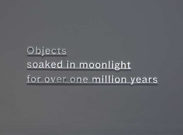 , 'Ideas - (Objects soaked in moonlight for over one million years),' 2017, Ingleby Gallery