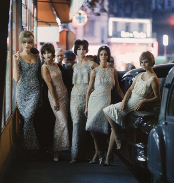Mark Shaw, 'Mod Girls in Sequined Dresses at Night, Paris', 1961, Jackson Fine Art