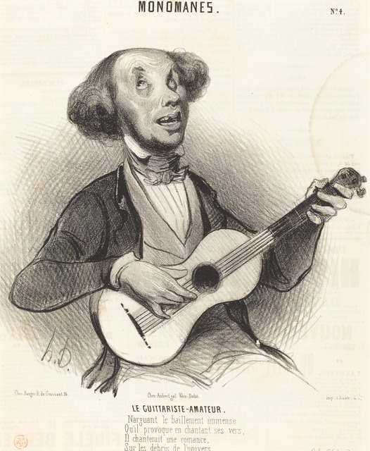 Honoré Daumier, 'Le Guitariste-Amateur', 1840, National Gallery of Art, Washington, D.C.
