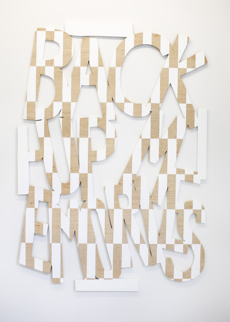 , 'Words 55 (Dazzle Dialectics 2),' 2016, Galerie Bart