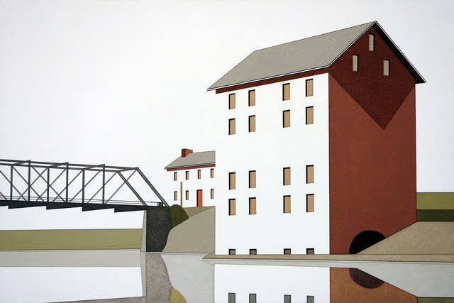 , 'Mill Bridge Reflection #1,' 2016, Margaret Thatcher Projects