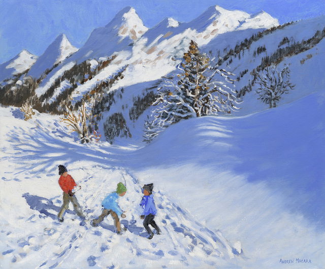 , 'Children in the Snow, La Clusaz,' , Jonathan Cooper
