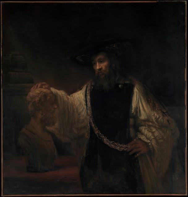 Rembrandt van Rijn, 'Aristotle with a Bust of Homer', 1653, The Metropolitan Museum of Art