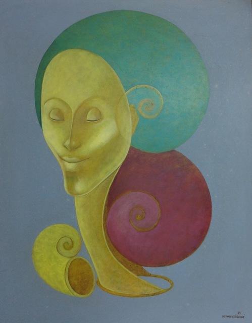, 'Yellow Face,' 1989, Myriam Nader Haitian Art Gallery