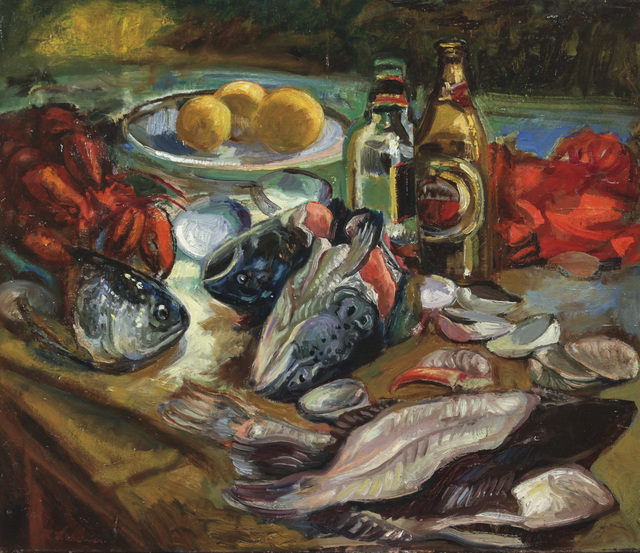, 'Beer and Fish Heads,' 2018, BCK Fine Arts Gallery at Montauk