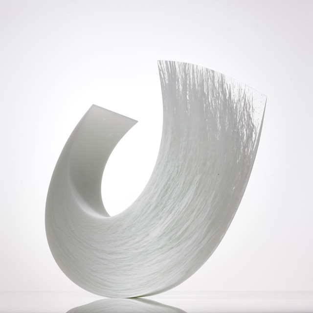 Galia Amsel, 'White Squall XV', 2019, Design/Decorative Art, Cast, hand-smoothed and polished white and clear bullseye glass. Made by the artist in New Zealand, Adrian Sassoon