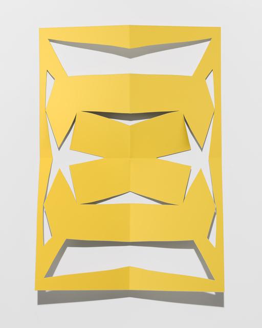 , 'Cutout (Zinc Yellow),' 2016, Altman Siegel