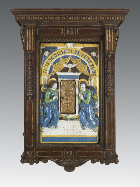 , 'Eucharistic tabernacle with adoring angels,' ca. 1525, Brun Fine Art