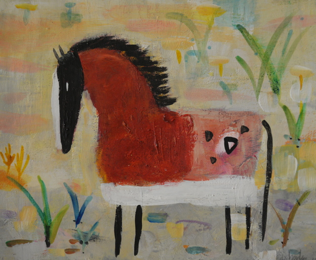 , 'Red Spotted Horse,' 2015, Carter Burden Gallery