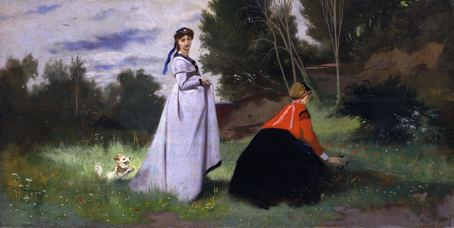 , 'Landscape with two Women,' 1867, Alte Nationalgalerie