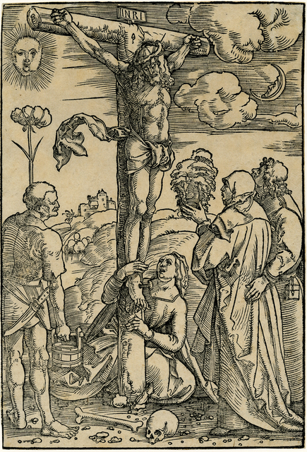 , 'Christ on the Cross with the Virgin and SS. Longinus, Mary Magdalen, and John,' ca. 1505, August Laube Buch & Kunstantiquariat