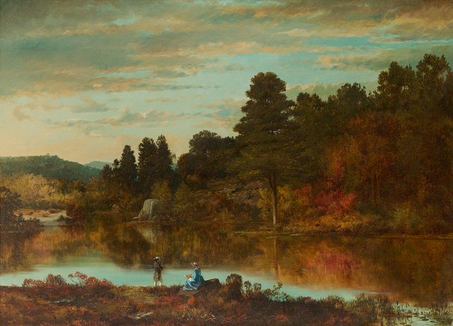 Joseph Morviller, 'Autumn Afternoon', 1862, Painting, Oil on canvas, Questroyal Fine Art
