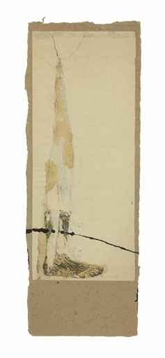 Robert Rauschenberg, 'Untitled (Foot Dissection)', Engraving, enamel, graphite, and paper collage on paperboard, Christie's