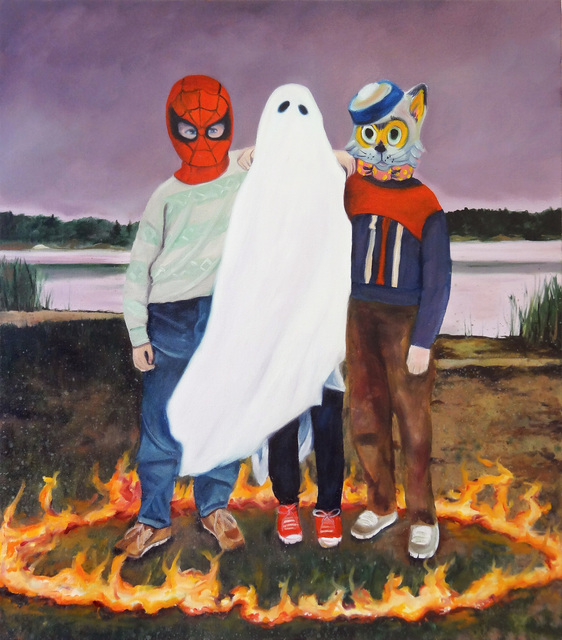 Super Future Kid, 'TV at 6am', 2015, Painting, Oil and acrylic on canvas, Gallery Poulsen
