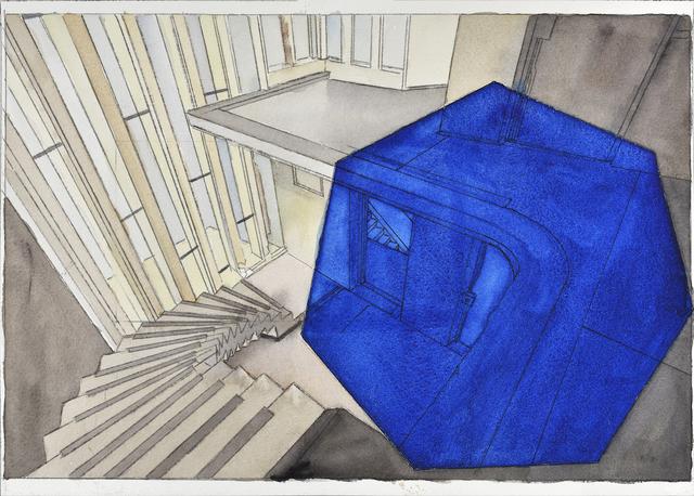 "Georges Rousse, '""Lisbonne""', 2018, Galerie Catherine Putman"