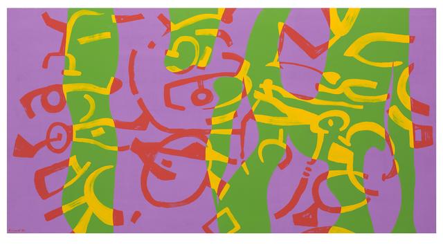 , 'Colore beffardo e violetto,' 1990, Galleria Giovanni Bonelli