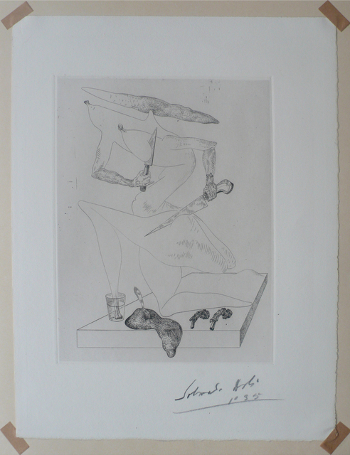 Salvador Dalí, 'Plate 12 from Les Chants de Maldoror', 1935, Print, Drypoint engraving, BigTown Gallery
