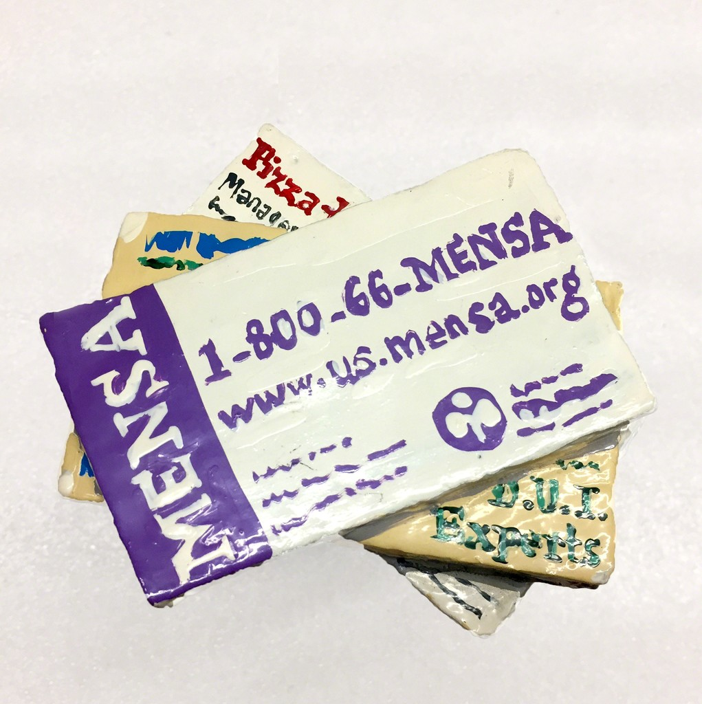 Jean Lowe | Business Cards (Mensa) (2005) | Available for Sale | Artsy