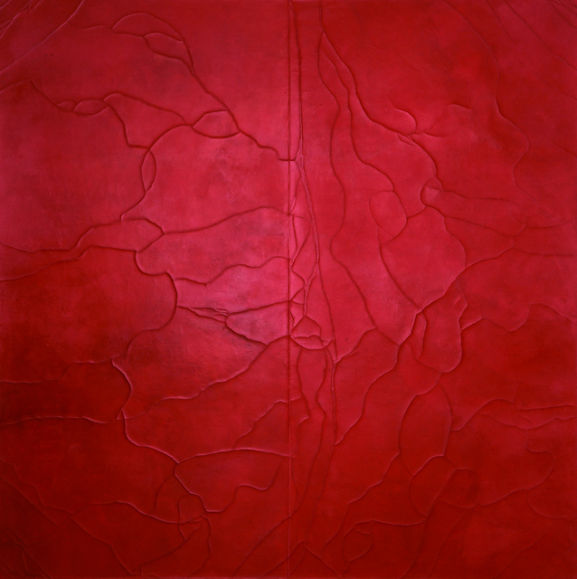, 'Divided Ground: Red/Carmine,' 2008, bo.lee gallery