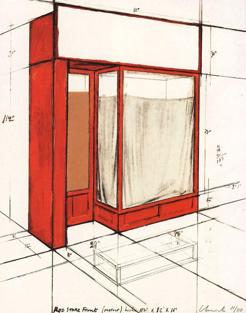 , 'Red Store Front,' 1977, Fils Fine Arts