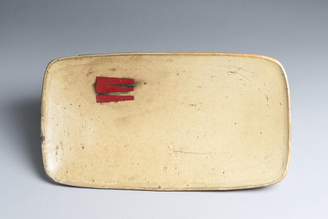 , 'Rectangle Serving Plate with Red,' 2017, Lacoste Gallery