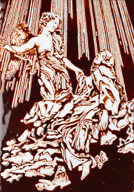 , 'Extasis de Sta. Teresa, según Bernini. Pinturas de chocolate,' 2015, CarrerasMugica