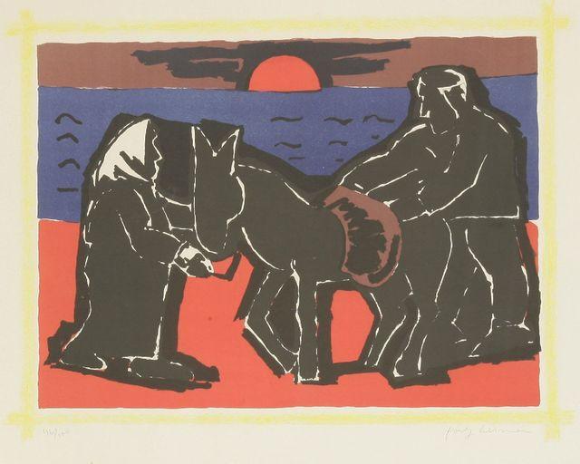 Josef Herman RA, 'The Red Sun', 1975, Sworders
