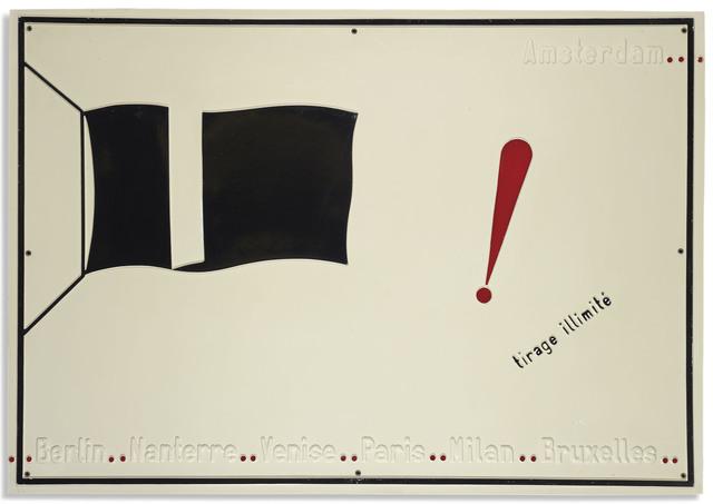 , 'Tirage illimité, le drapeau noir,' 1968, Marian Goodman Gallery