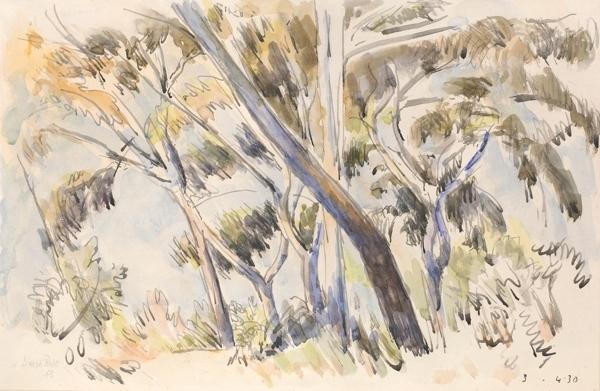 , 'Leaning treescape ,' 1963, Robert Eagle Fine Art