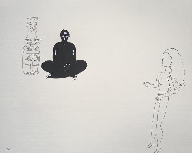 , 'Untitled with Ibibio Figure,' 2017, Circle Art Agency