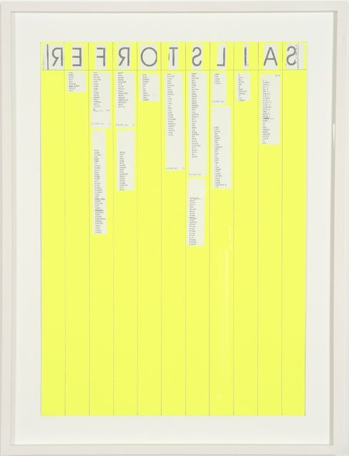 , 'Entwurf-sailstorfer,' 2007, Cultural Avenue