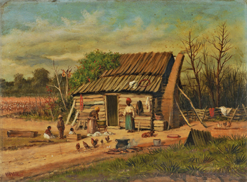 Sharecroppers' Cabin with Family