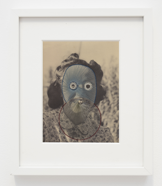 Maurizio Anzeri, 'Anna', 2015, Photography, Embroidery on found photograph, Haines Gallery