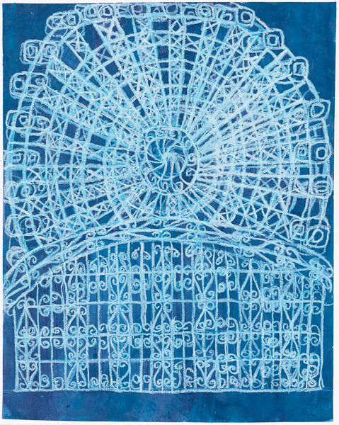 Camille Holvoet, 'Seattle Ferris Wheel With Iron Gates', 2016, Creativity Explored