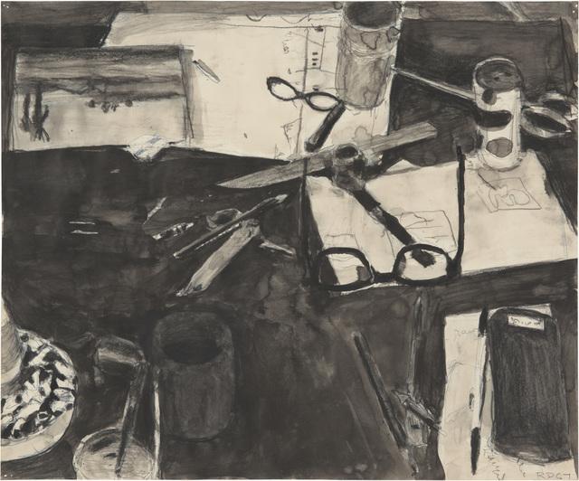Richard Diebenkorn, 'Untitled (Still Life, Cigarette Butts and Glasses)', 1967, Richard Diebenkorn Foundation