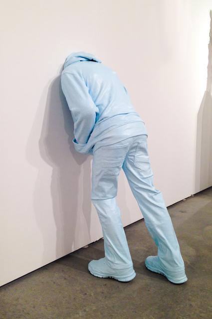 , 'Head in the Wall (child), blue,' 2017, Fabien Castanier Gallery