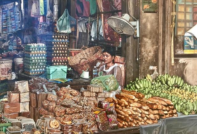Anthony Brunelli, 'Cambodia Market', 2019, Louis K. Meisel Gallery