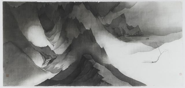 Shen Qin, 'Mountain 20180803-03', 2018, Drawing, Collage or other Work on Paper, Ink on paper, NO 55 ART SPACE