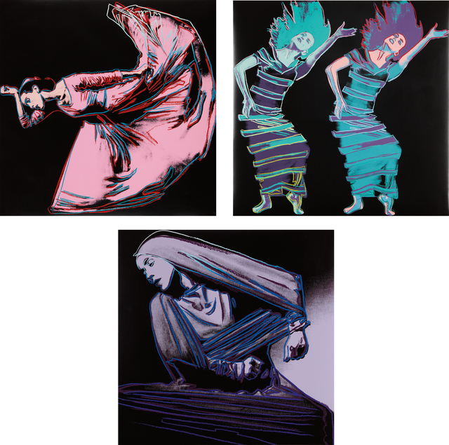 Andy Warhol, 'Martha Graham', 1986, Print, The complete set of three screenprints in colors, on Lenox Museum Board, the full sheets, Phillips
